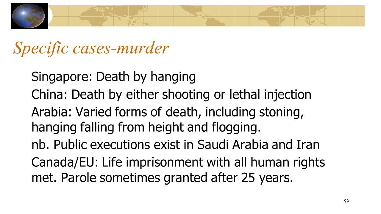 Specific cases-murder