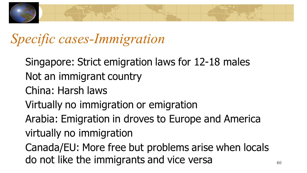 Specific cases-Immigration