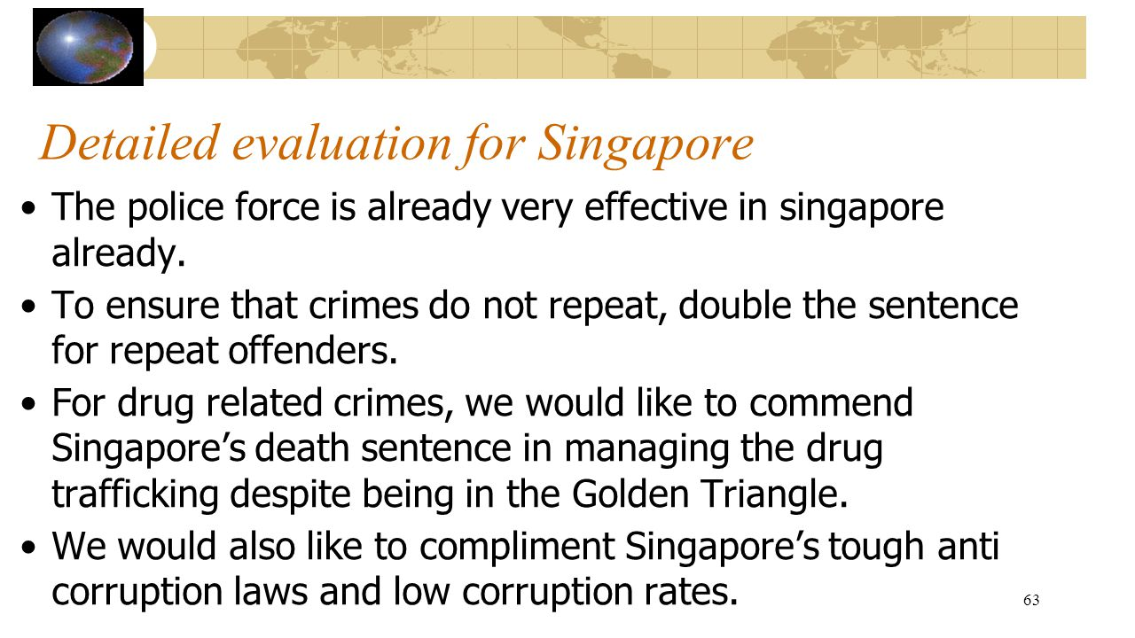 Detailed evaluation for Singapore
