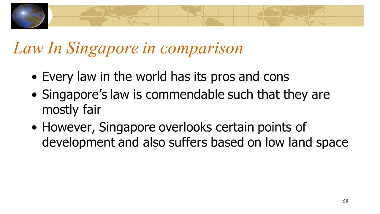 Law In Singapore in comparison