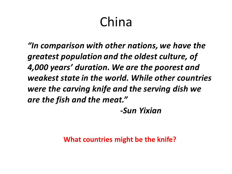 What countries might be the knife