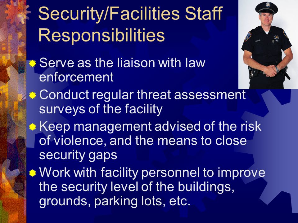 Security/Facilities Staff Responsibilities