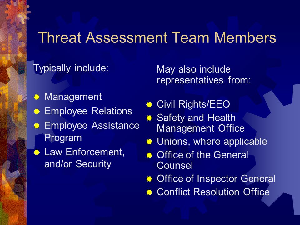 Threat Assessment Team Members