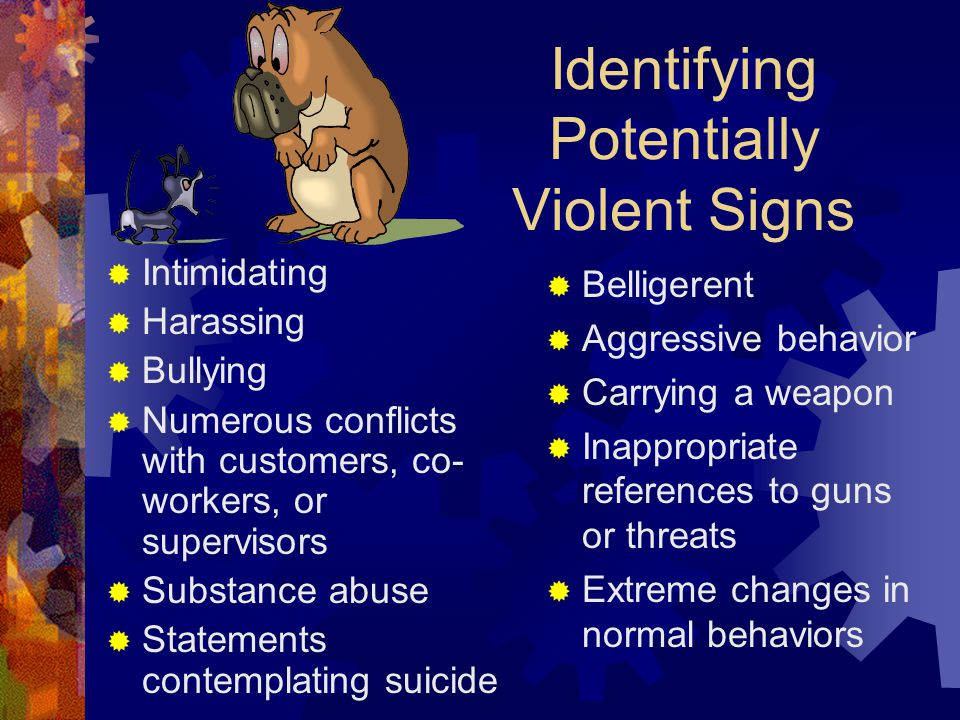 Identifying Potentially Violent Signs