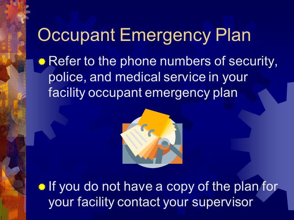 Occupant Emergency Plan