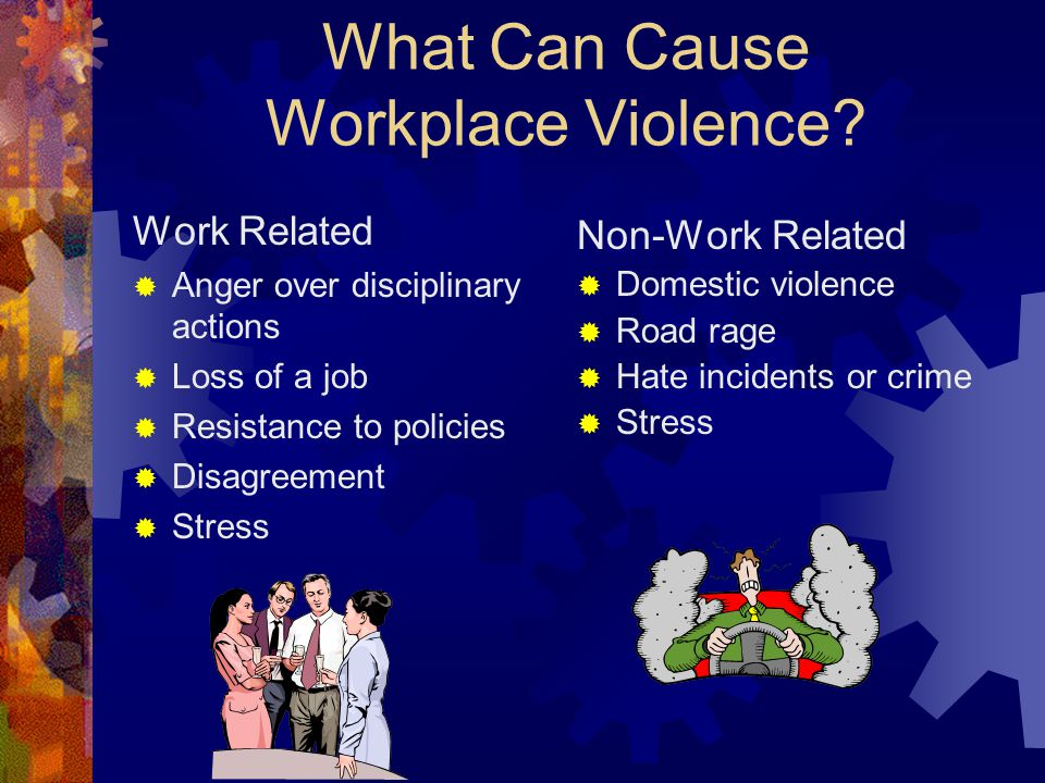 exploring the causes of workplace violence Understanding and dealing with resident aggression: exploring the extent, causes, and impact of aggressive outbursts and how to handle them.