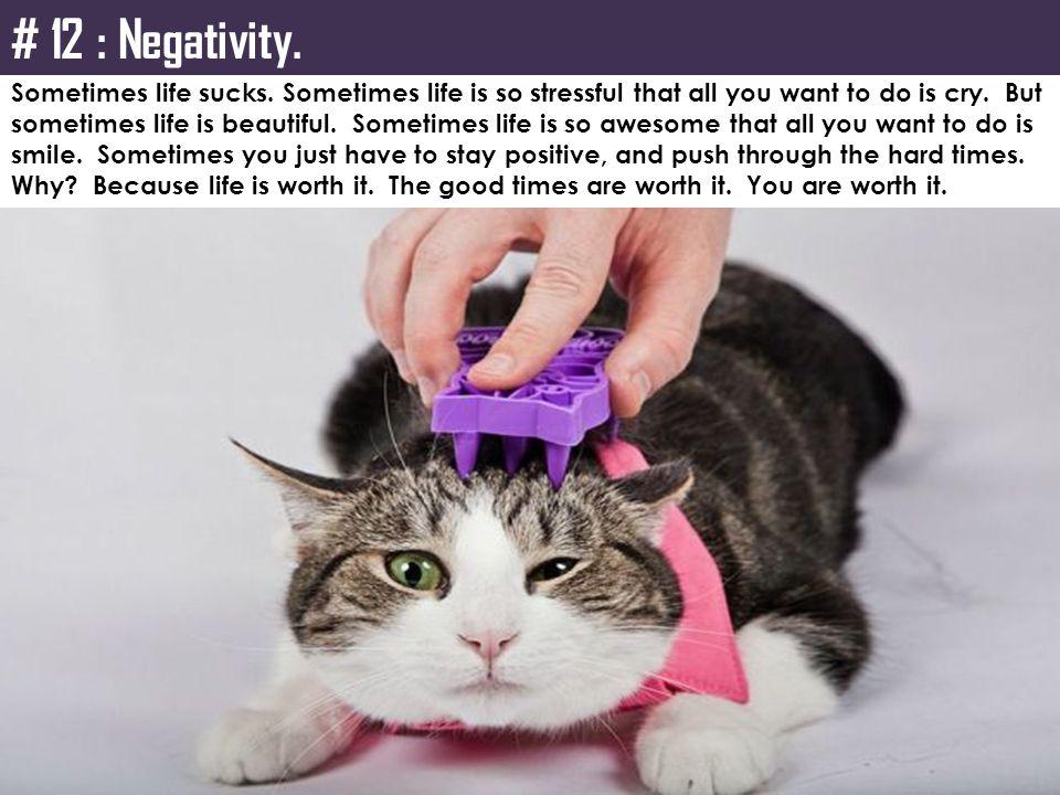 # 12 : Negativity.