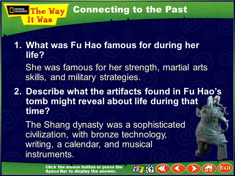 1. What was Fu Hao famous for during her life
