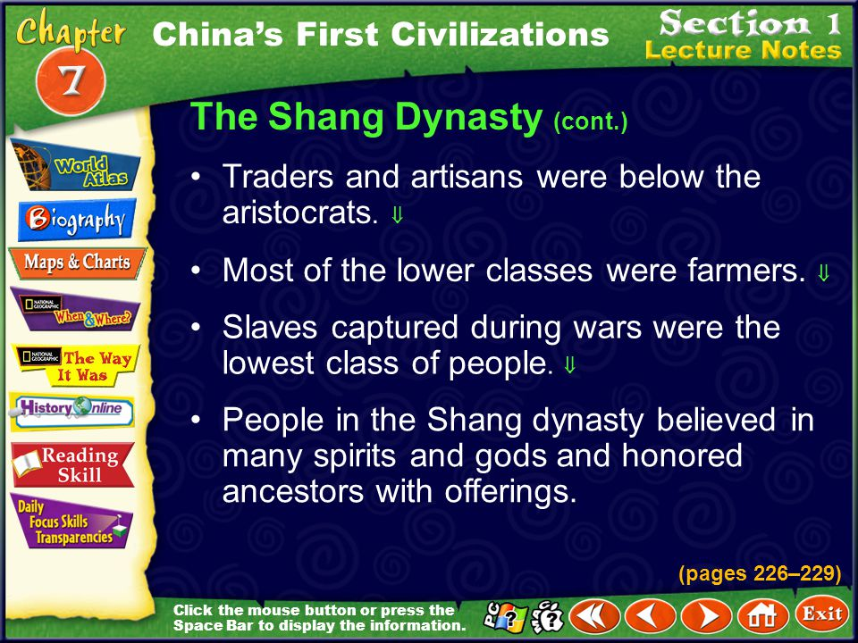 The Shang Dynasty (cont.)
