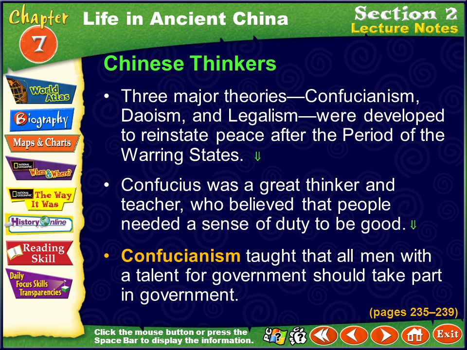 Chinese Thinkers Life in Ancient China