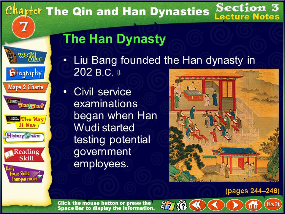 The Han Dynasty The Qin and Han Dynasties