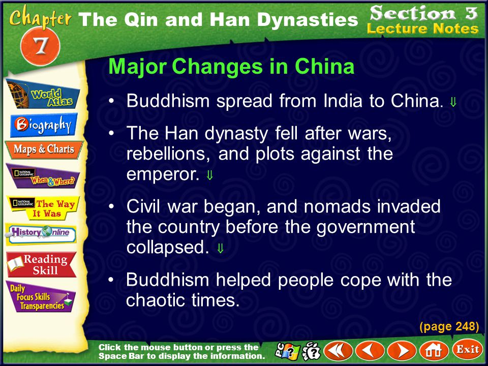 Major Changes in China The Qin and Han Dynasties