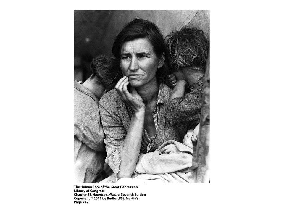 1. Examine these two photographs by Dorothea Lange