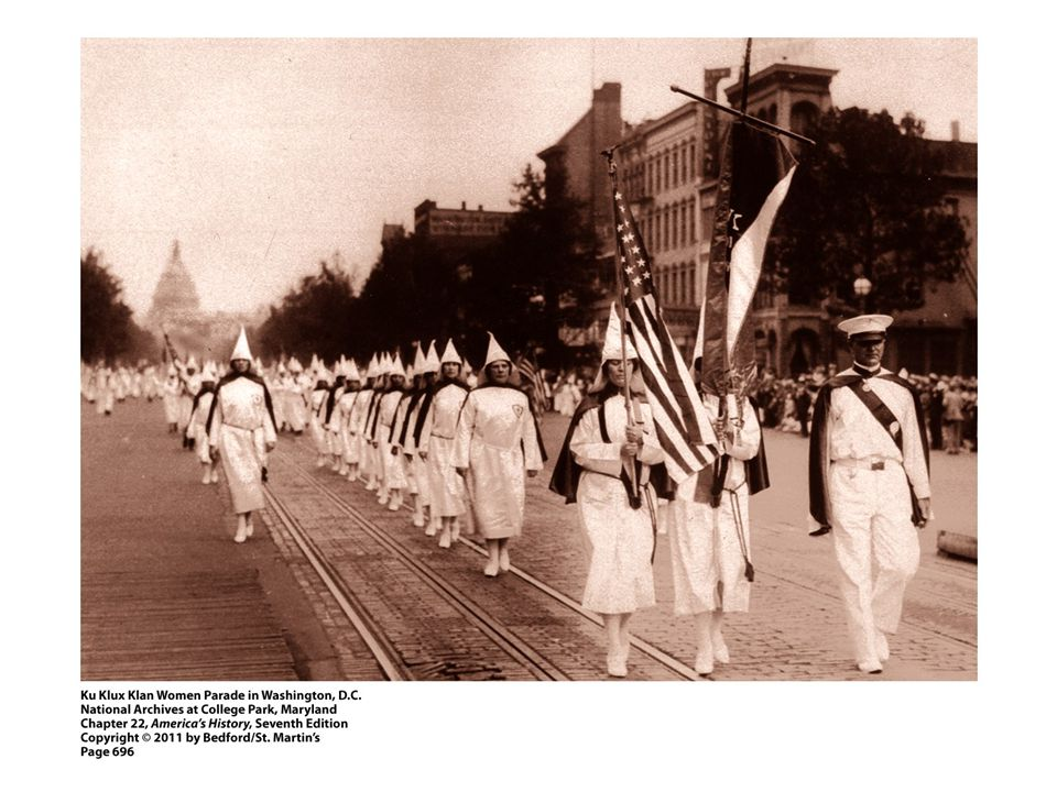 1. How does this image of women in the Klan challenge our perceptions of the KKK in American history