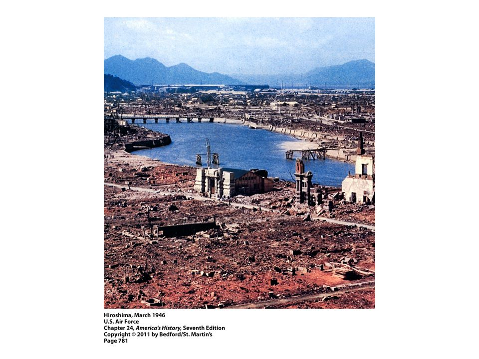 1. Examine this image of Hiroshima more than six months after the atomic bomb was dropped. Can you identify any symbols of Japanese culture in this photograph