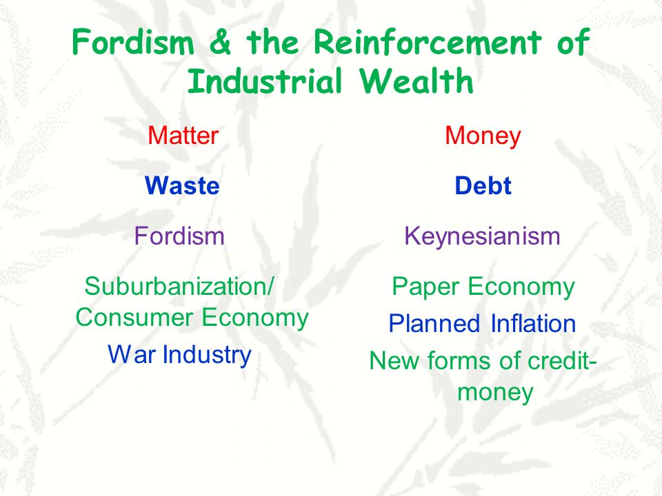 Fordism & the Reinforcement of Industrial Wealth