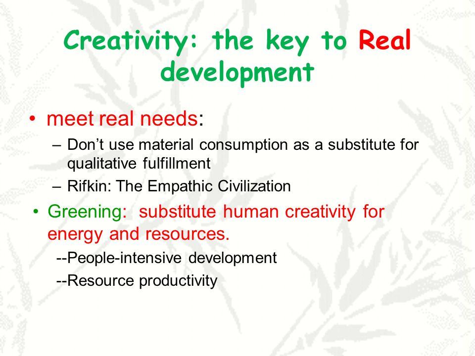 Creativity: the key to Real development