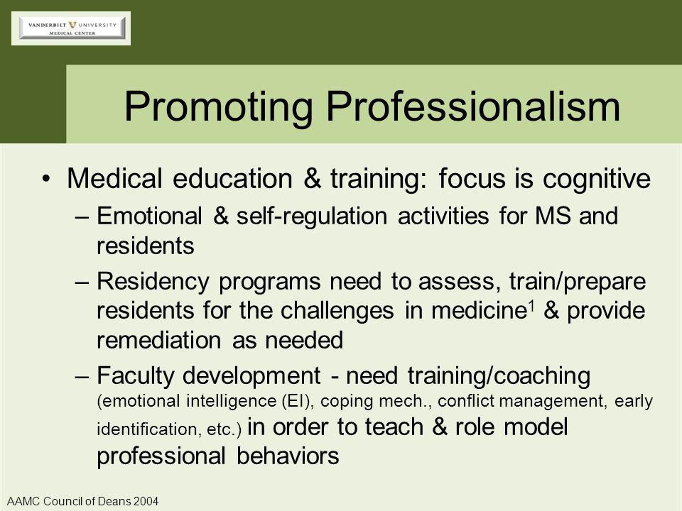 Promoting Professionalism