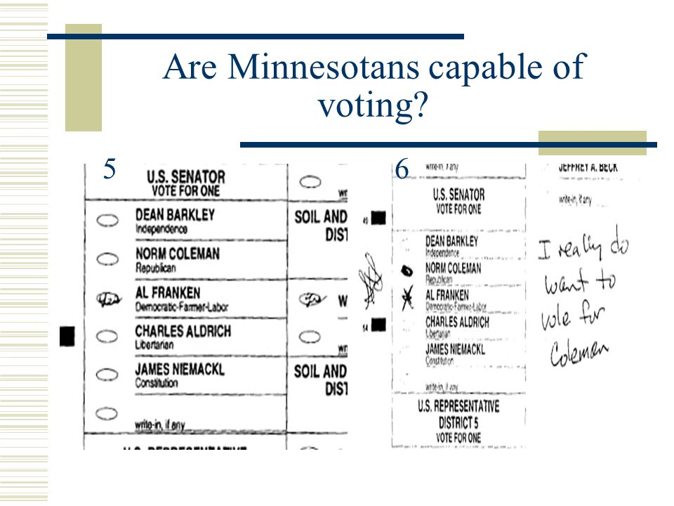 Are Minnesotans capable of voting
