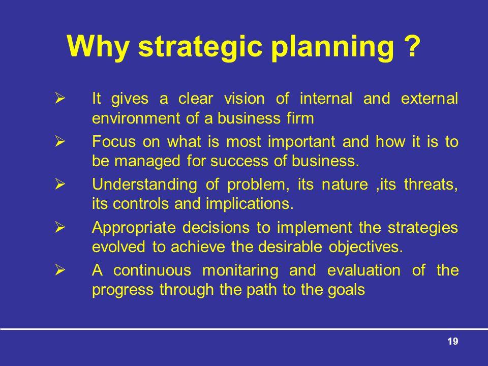 Why strategic planning