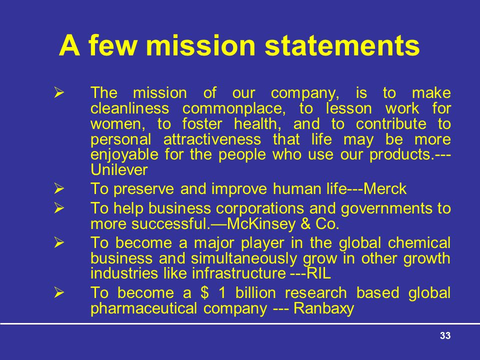 A few mission statements