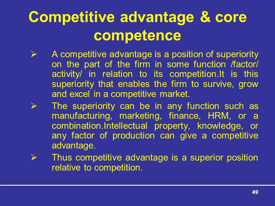 Competitive advantage & core competence