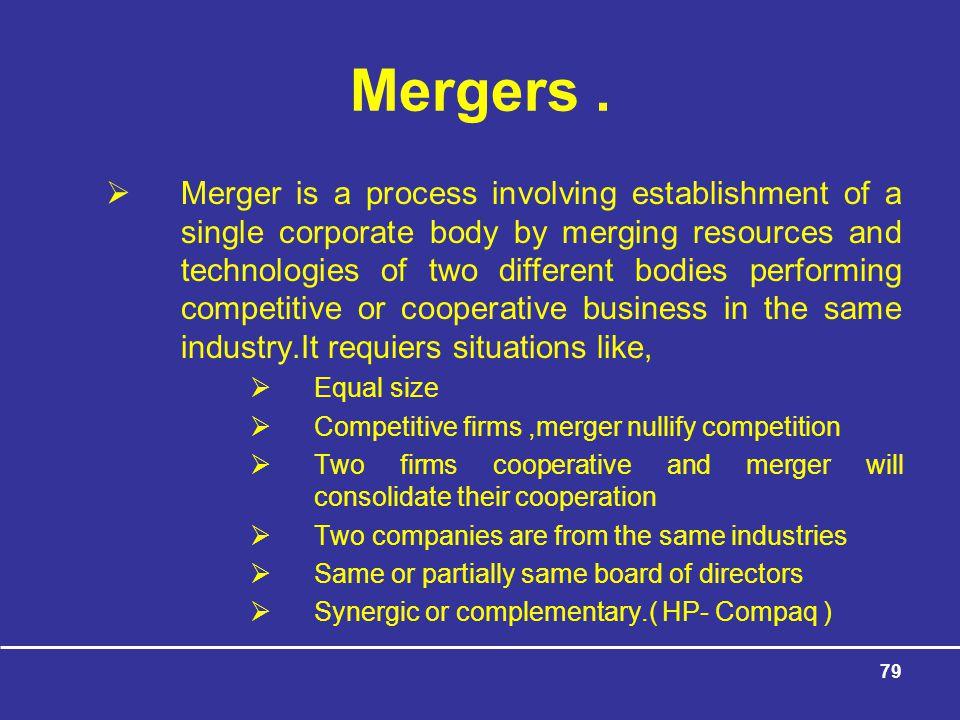 Mergers .