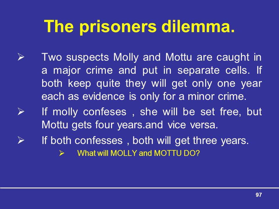 The prisoners dilemma.