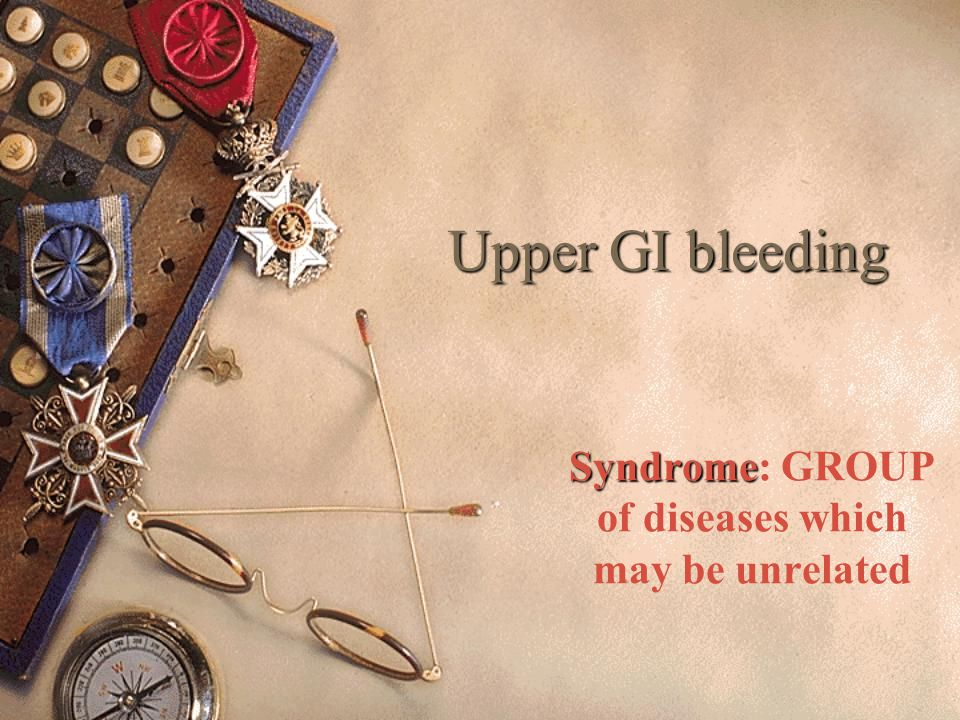 Syndrome: GROUP of diseases which may be unrelated