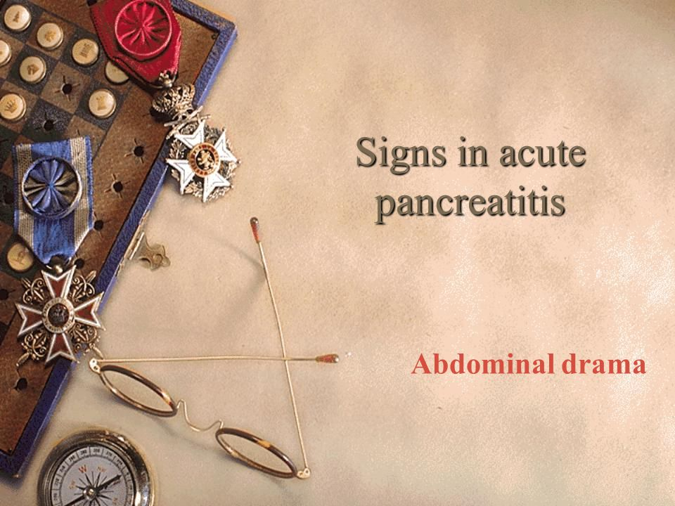 Signs in acute pancreatitis