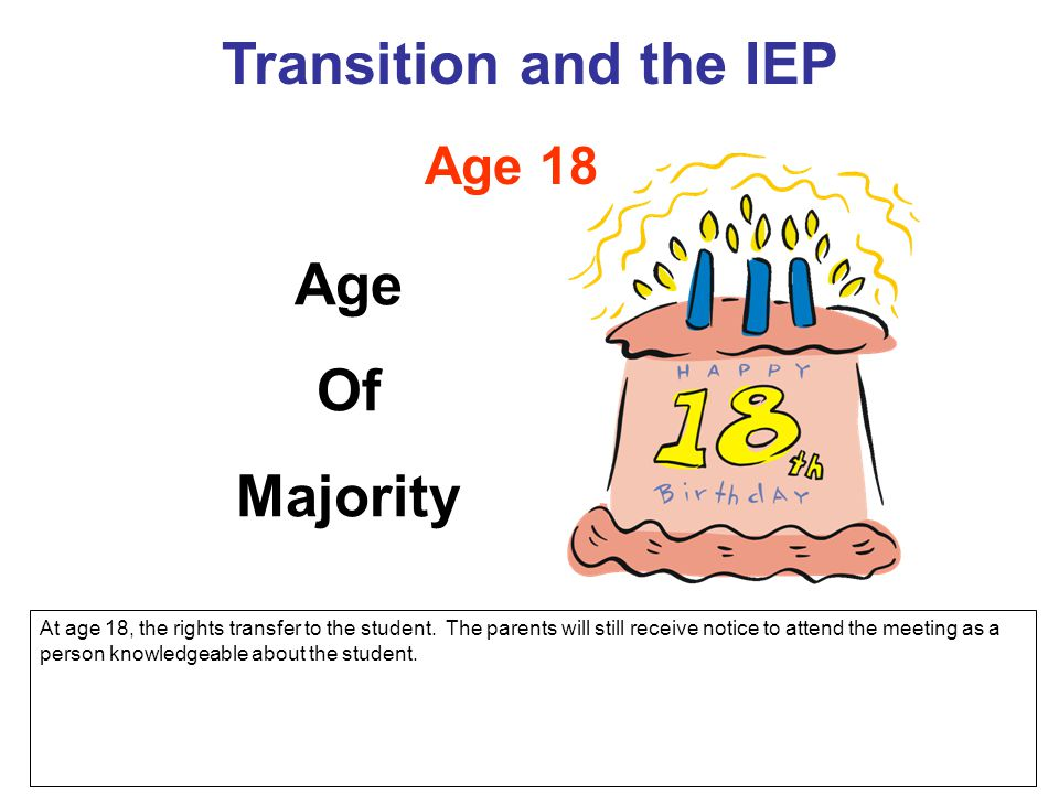 Transition and the IEP Age Of Majority
