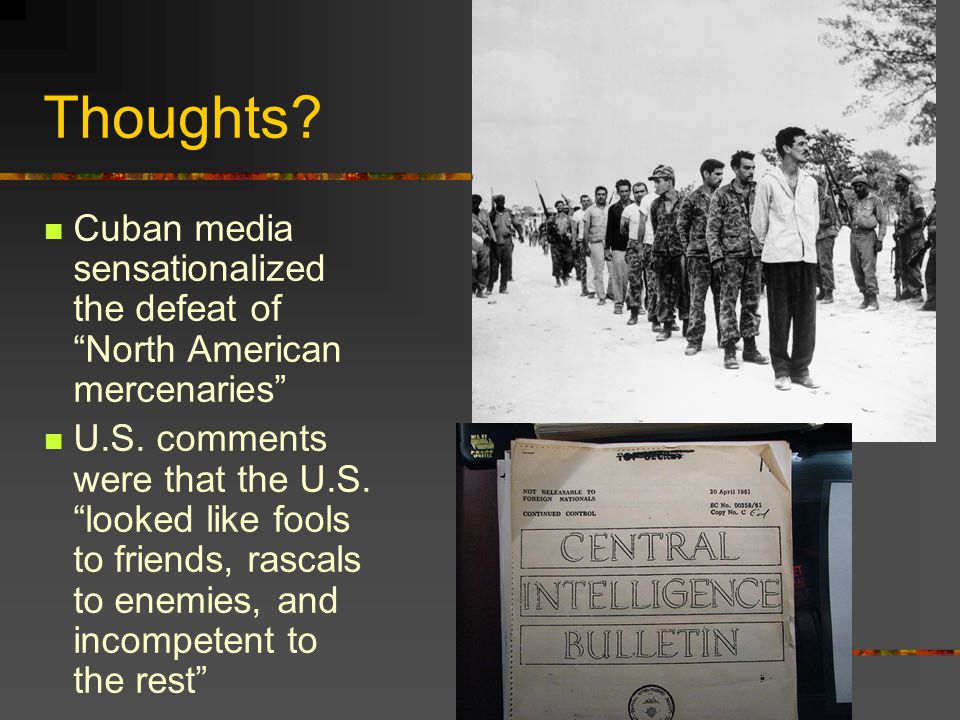 Thoughts Cuban media sensationalized the defeat of North American mercenaries