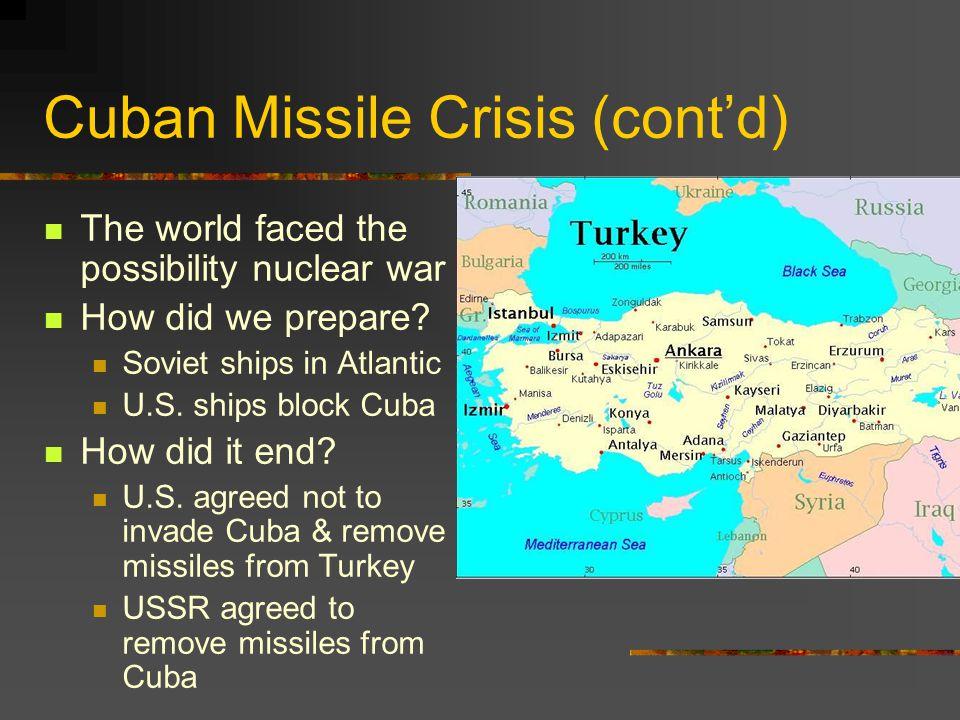 Cuban Missile Crisis (cont'd)