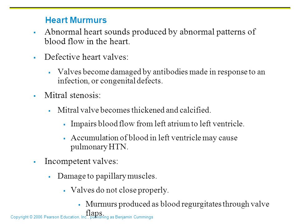 Defective heart valves: