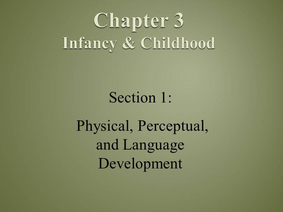 Chapter 3 Infancy & Childhood