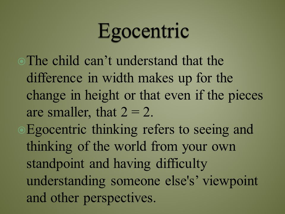 Egocentric
