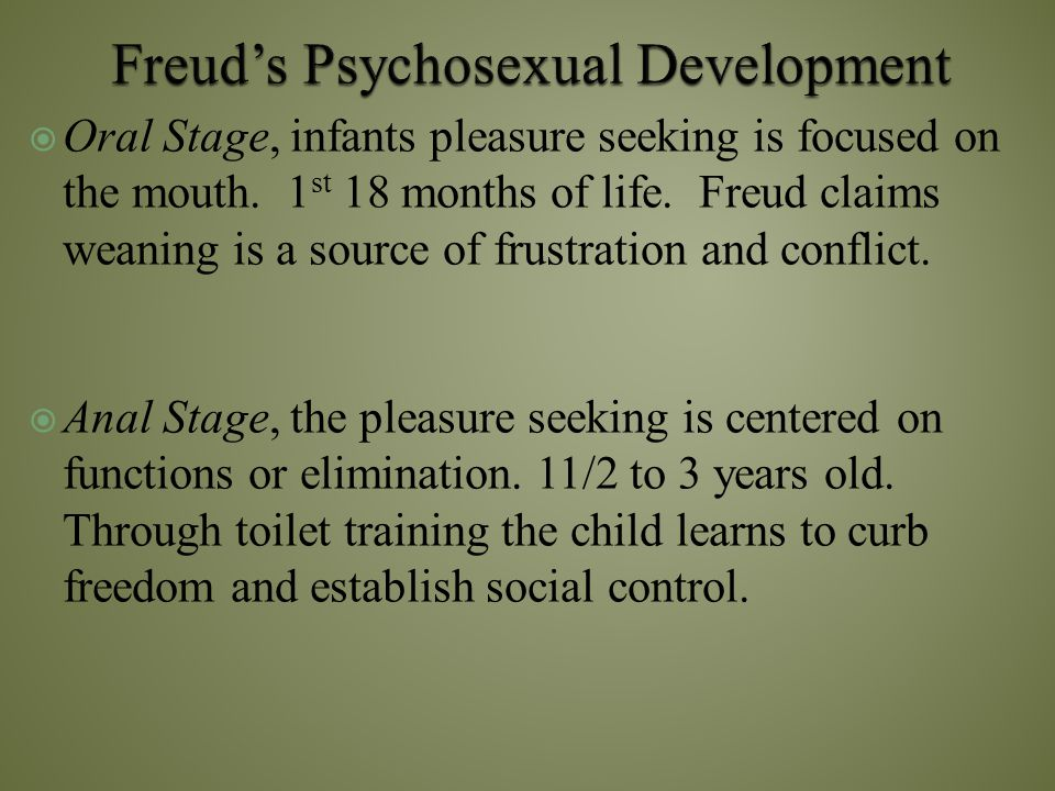 Freud's Psychosexual Development