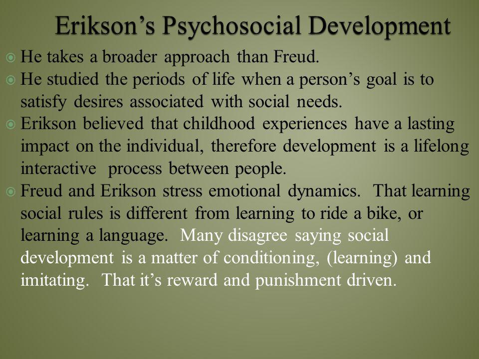 Erikson's Psychosocial Development