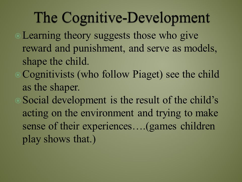 The Cognitive-Development