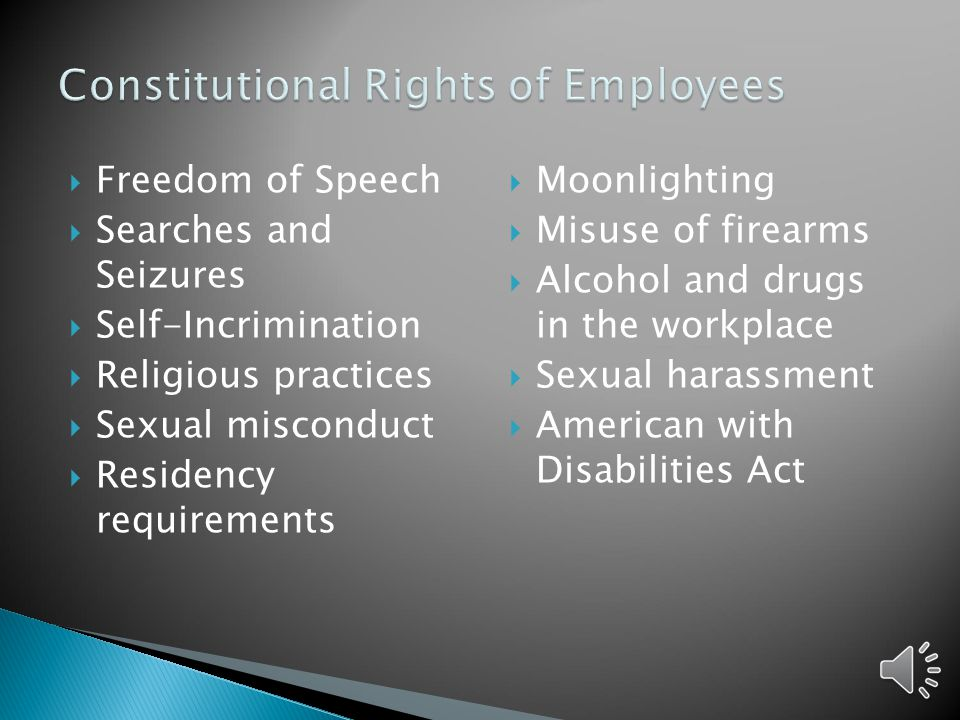 Constitutional Rights of Employees