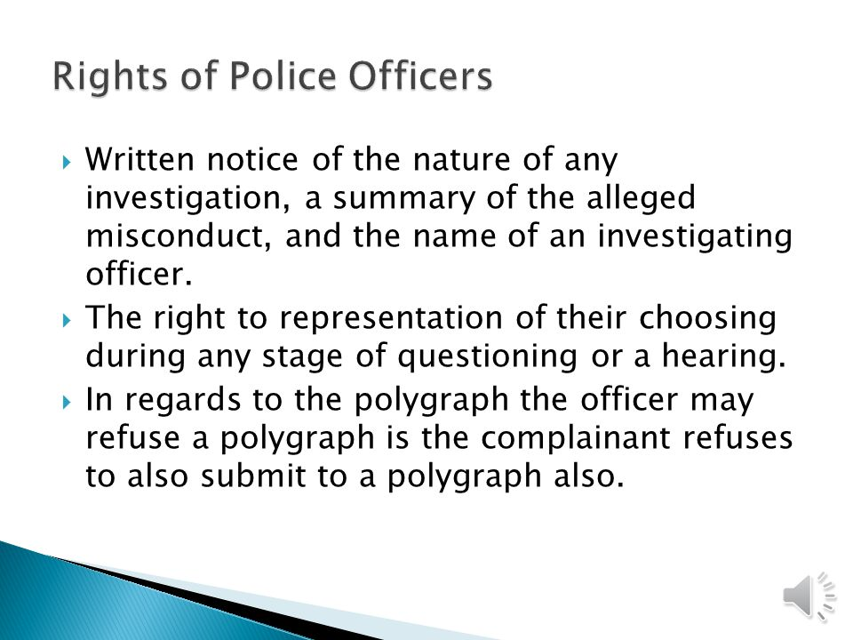 Rights of Police Officers