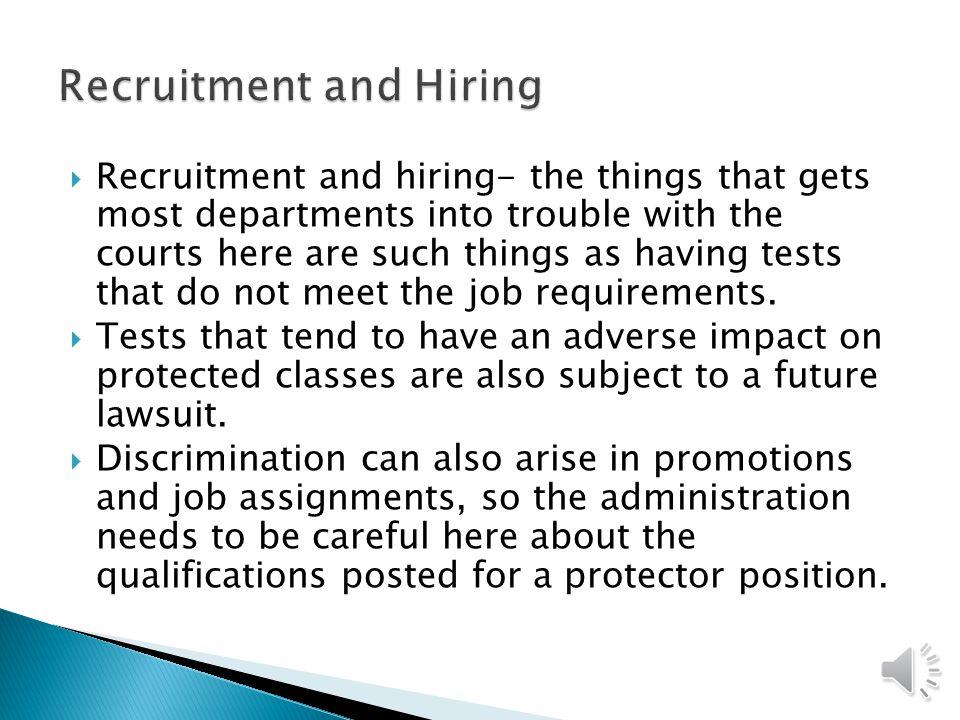 Recruitment and Hiring