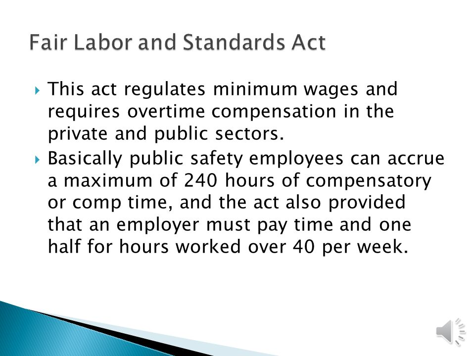 Fair Labor and Standards Act