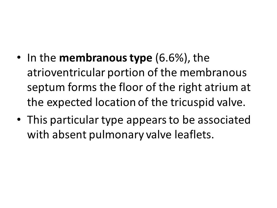 In the membranous type (6