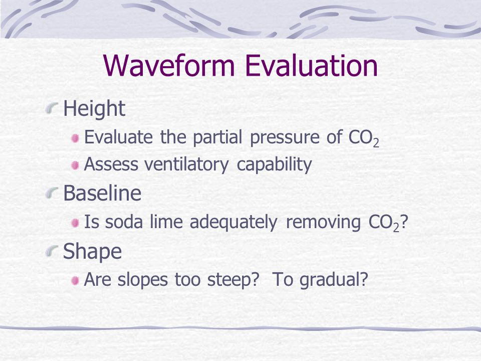 Waveform Evaluation Height Baseline Shape