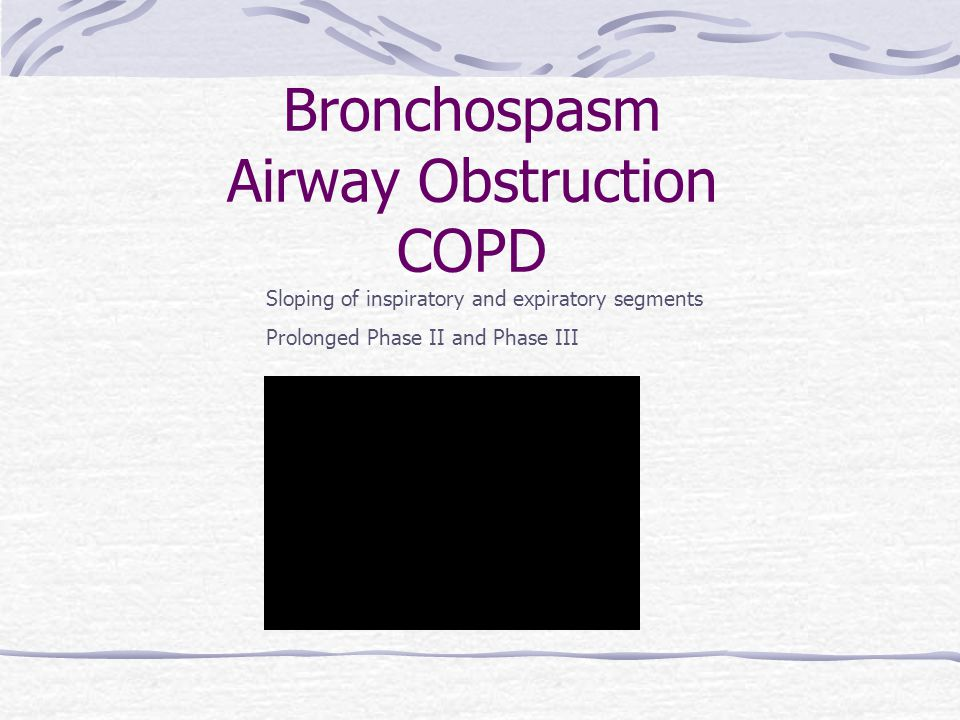 Bronchospasm Airway Obstruction COPD