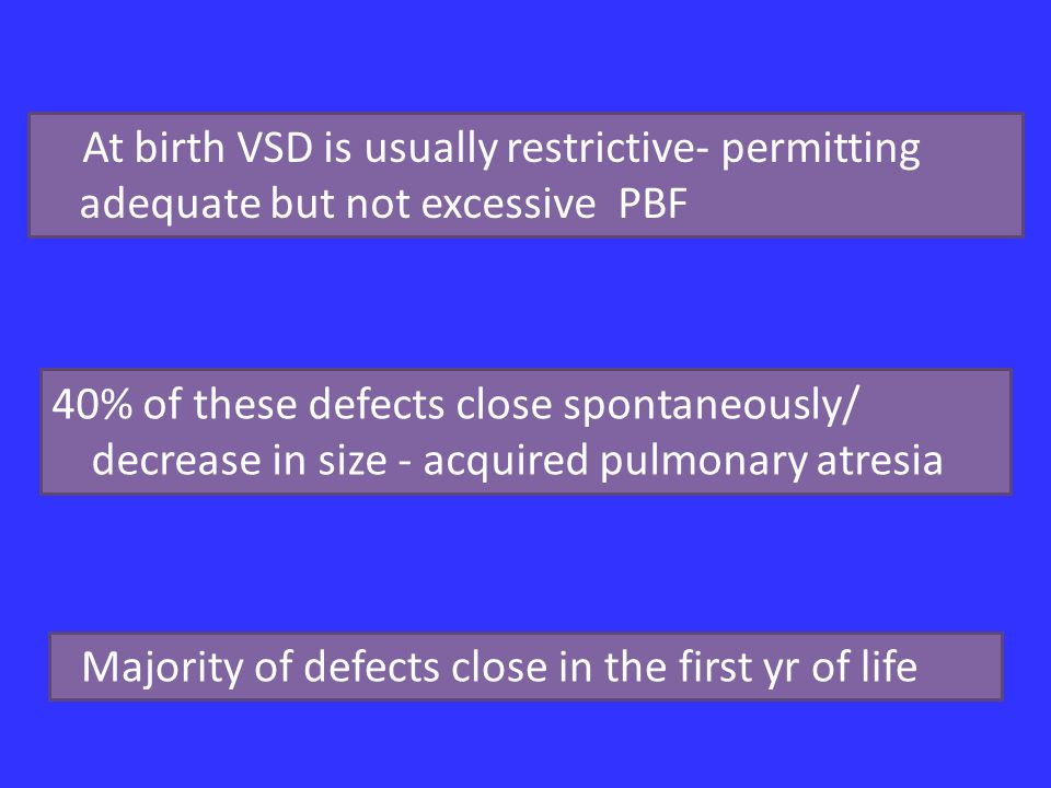 Majority of defects close in the first yr of life