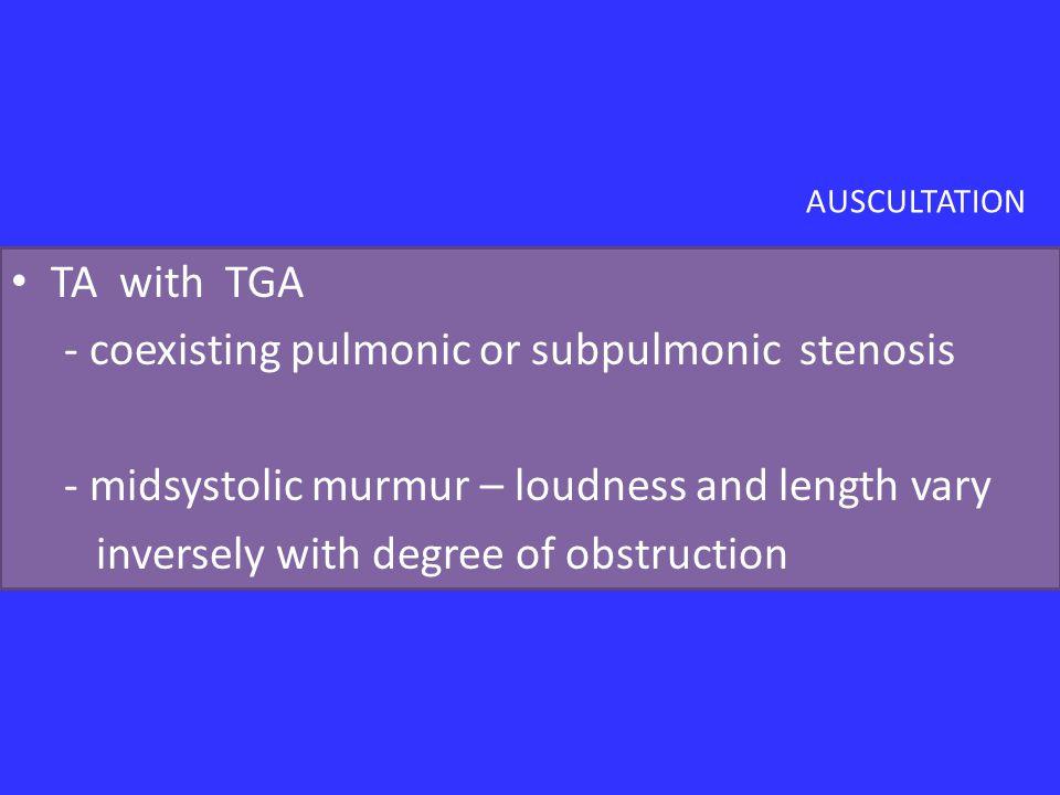 - coexisting pulmonic or subpulmonic stenosis