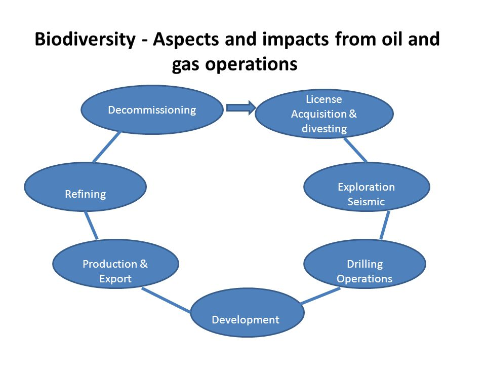 Biodiversity - Aspects and impacts from oil and gas operations