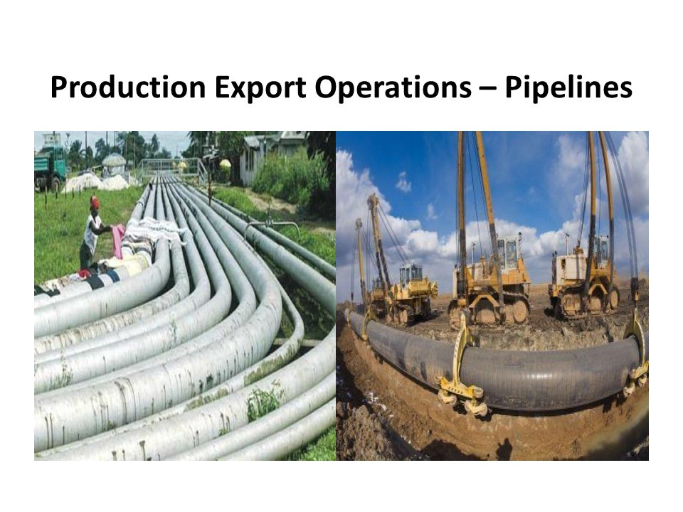 Production Export Operations – Pipelines